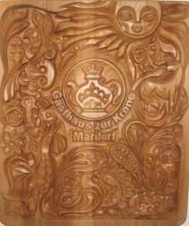 Holztafel der Familie Mardorf